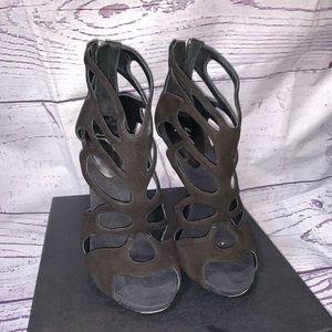 Giuseppi Zanotti WOMANS Black Suede Heels SZ.36.5